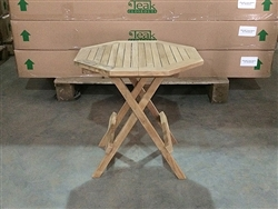 teak side table octagon - picnic style (b-grade)
