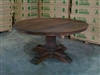 Teak Reclaimed Round Table Brown 160cm  #0242
