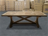 British Gardens FSC Recycled Teak Trestle Table 240x105cm #100