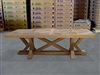British Gardens FSC Recycled Teak Trestle Table 260x110cm