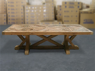 British Gardens FSC Recycled Teak Trestle Table 260x110cm #100