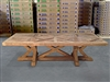 British Gardens FSC Recycled Teak Trestle Table 280x110cm #100