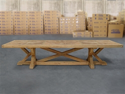 British Gardens FSC Recycled Teak Trestle Table 360x110cm #100