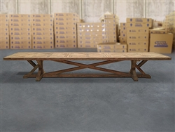 British Gardens FSC Recycled Teak Trestle Table 500x110cm #100