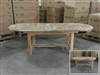 Eden Oval Double Extension Teak Table 180cm Regular to 240cm w/ Extension x 100cm Width