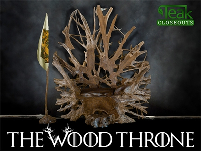 Teak Wood Throne #0001