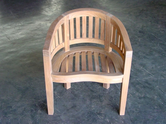 Peanut/Banana Teak Arm Chair ...