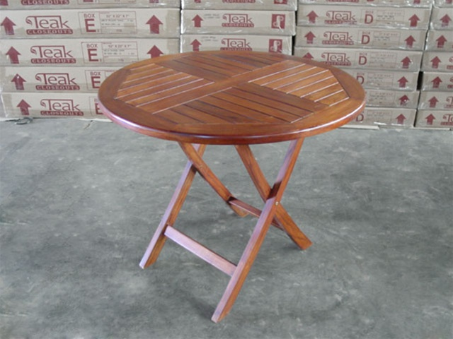 Round Folding Table 90cm bistro style