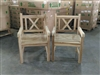 Cross Teak Arm Chair - 2-packs