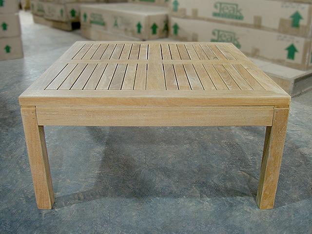 Inch Teak Coffee Table Cm X Cm - Teak outdoor end table
