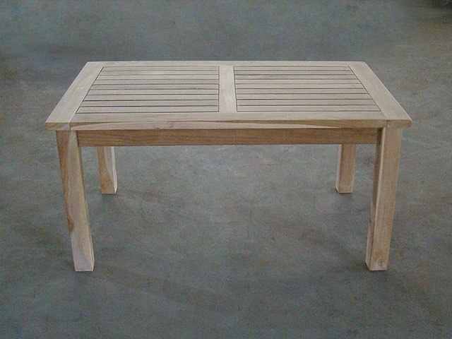 tata teak coffee table 100x60cm