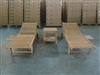 Merapi Teak Wheellounger Set w/ Side Table