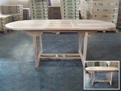 Fitri Oval Extension Table 160cm Regular To 210cm x 90cm Width