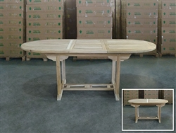 Gayatri Oval Extension Teak Table 150cm x 90cm - Extendable To 200cm