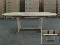Gayatri Oval Extension Table 180cm/240cm x 100cm