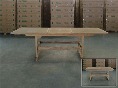 Genuk Rectangle Extension Teak Table 180cm x 100cm - Extendable To 240cm