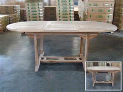 Rama Oval Extension Table 150cm Regular to 200cm x 90cm width