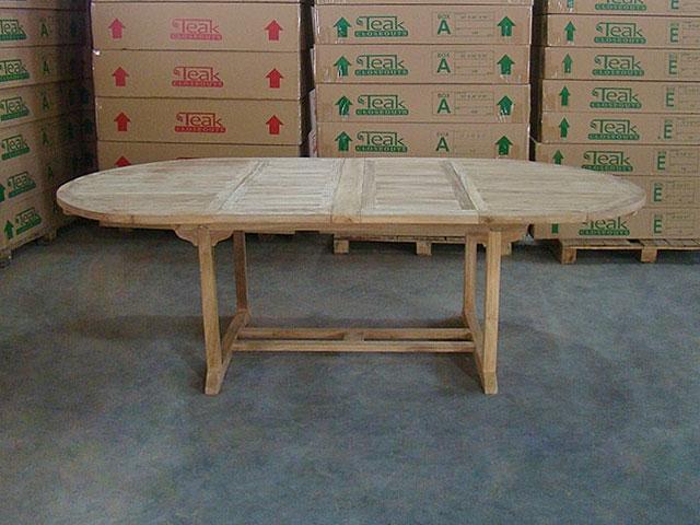 Keadew Oval Teak Table Double Extension 160/240cm X 120cm