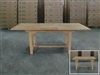Klepu Rectangle Extension Teak Table 144cm regular to 194cm w/ Extension x 100cm width