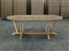 Matahari Oval Teak Table 200x100cm