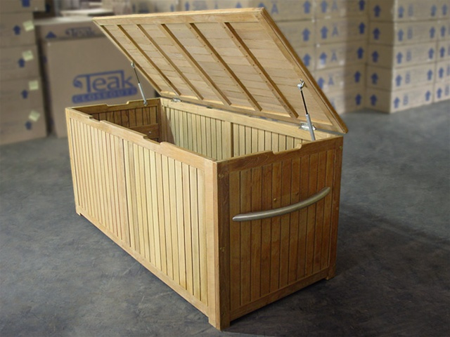 Storage Teak Box Cushion Box Large