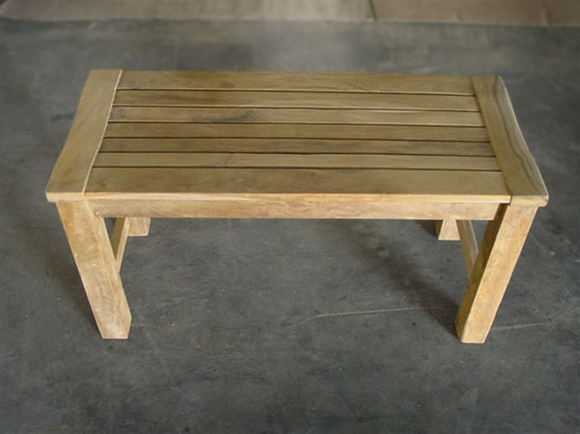 90cm36 Rinjani Teak Backless Bench