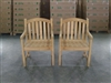 Sulawesi Teak Arm Chair - 2-packs