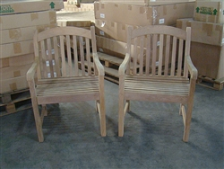 Sumbawa Teak Arm Chair - 2-packs