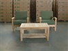 Bromo Teak Deep Seating Chair Set + Coffee Table