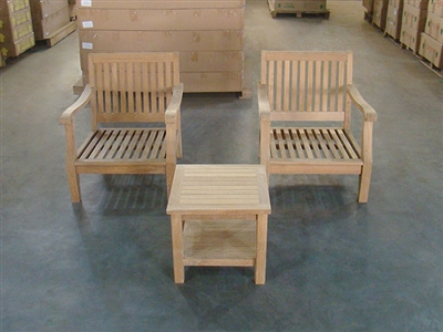 Maru Teak Deep Seating Chair Set