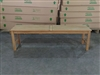 "150cm/60"" Tennis Teak Backless Bench"