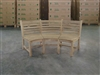 Natuna 2 Seater Teak Curved Bench