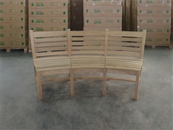 Natuna 3 Seater Teak Curved Bench
