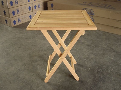 "Teak Bistro Table - Toba 24"" Square"