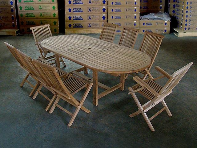 & Kalimantan Teak Table Set w/ choice of chairs