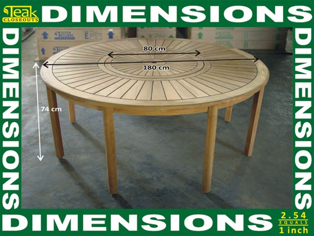 Round Dining Table For 6 With Lazy Susan triton round dining table 180cm