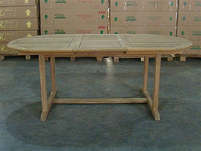 Progo Oval Extension Table 150cm Regular to 200cm x 95cm width