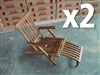 Combo 2 Ocean Teak Kid Deck Chair (Mini Steamer) + FREE Side Table