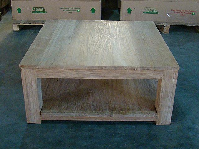Side Table 100 Cm.Carrick Heavy Teak Coffee Table 100cm X 100cm