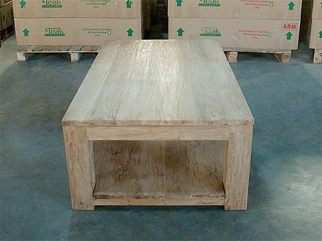 Carrick heavy teak coffee table 140cm x 80cm for Coffee table 80cm x 80cm