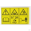 Etesia mower spare parts Uk Etesia SAFETY LABEL part number 12135