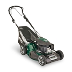 Atco Quattro 22SH V 4 in 1 self propelled lawnmower with collector mid size