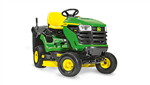 John Deere X146R Ride on tractor mower with grass collector