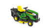 John Deere X166R Ride on tractor mower with grass collector