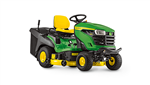 John Deere X167R Ride on tractor mower with grass collector