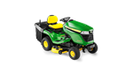 John Deere X350R Ride on tractor mower with grass collector