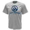 Heavyweight 100% cotton t-shirt with athletic styling. Printed with Camp Pinebrook logo.