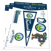 Tech wall decals to decorate your walls, devices, locker, or trunks.
