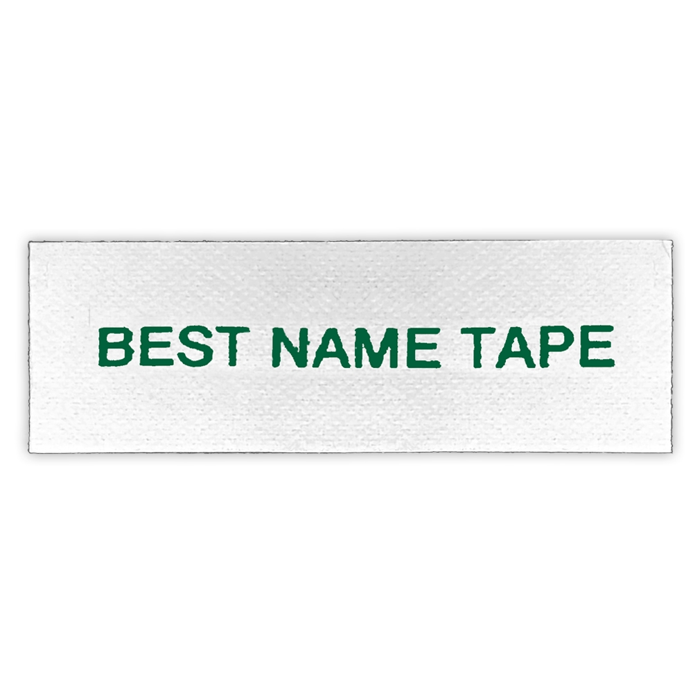 NAME TAPE LABELS - GREEN - 1 LINE