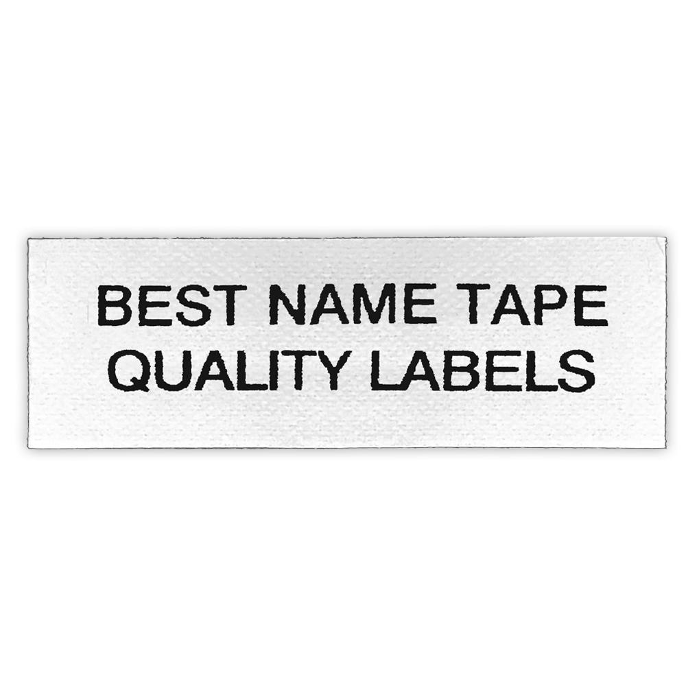 NAME TAPE LABELS - BLACK - 2 LINE